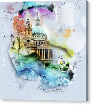 CHVRCH-IV St Paul's Cathedral. Till We Meet Again - Canvas Print