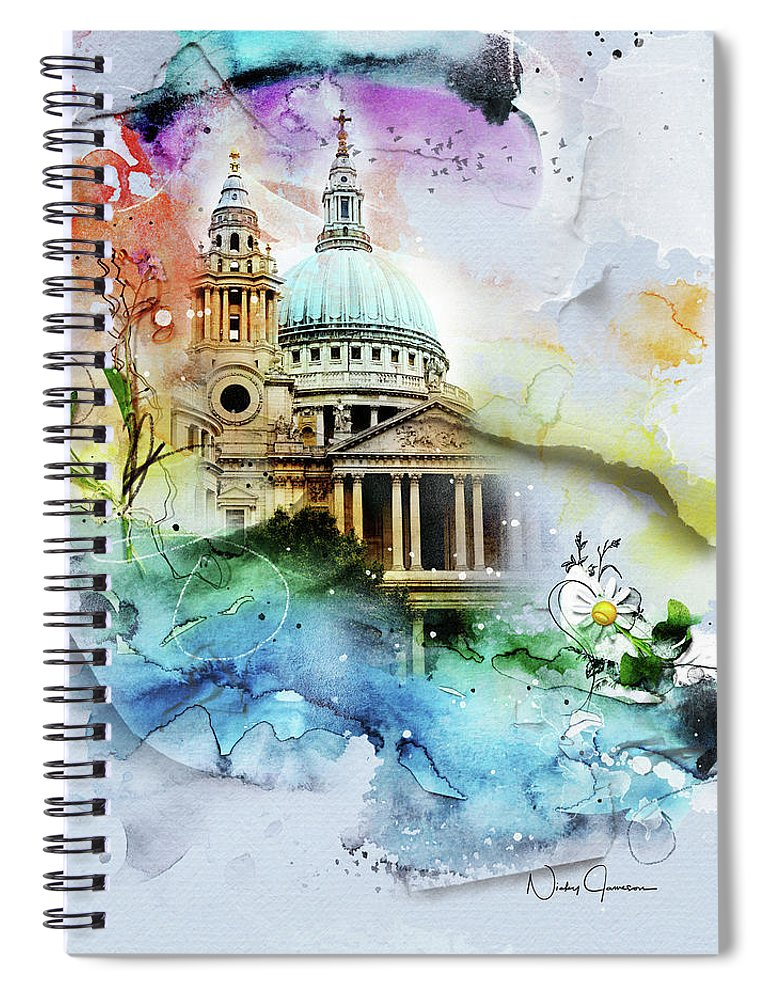 CHVRCH-IV St Paul's Cathedral. Till We Meet Again - Spiral Notebook