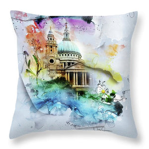 CHVRCH-IV St Paul's Cathedral. Till We Meet Again - Throw Pillow