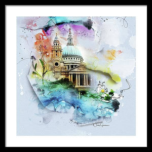 CHVRCH-IV St Paul's Cathedral. Till We Meet Again - Framed Print
