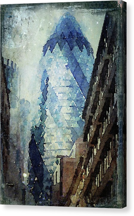 City Blue - Canvas Print