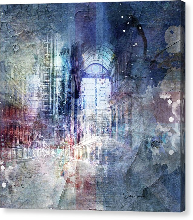 City Collage Stories - Canvas Print