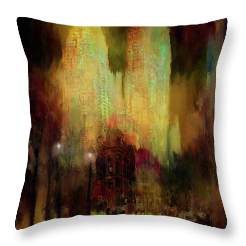 City Lights - Throw Pillow