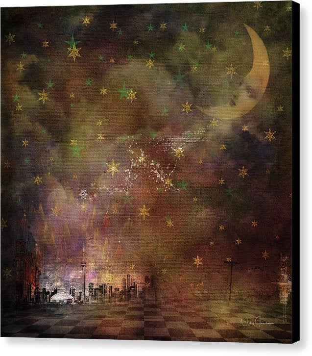 Cloudy Night - Canvas Print