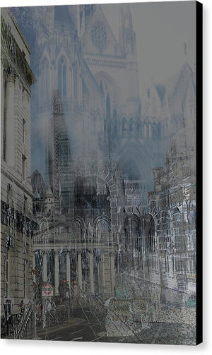 Comes The Night - City Dreamscape - Canvas Print