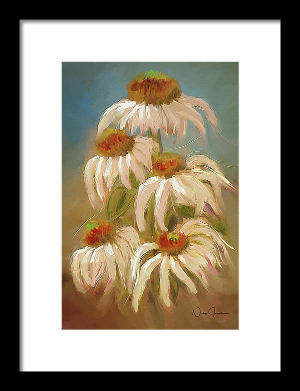 cone flower painting by Nicky Jameson