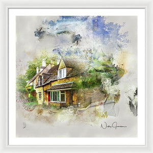Cotswolds Cottage II - Framed Print