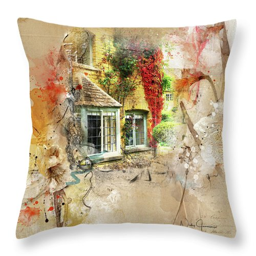 Cotswolds Cottage Lights - Throw Pillow