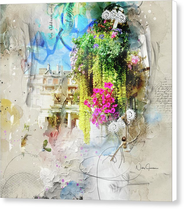 Covent Garden Blooms - Canvas Print