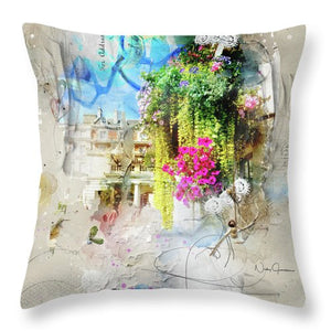 Covent Garden Blooms - Throw Pillow