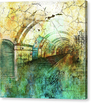 Crackly London Underground - Canvas Print