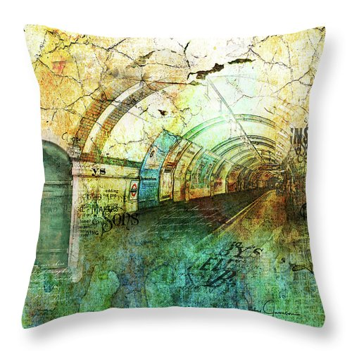 Crackly Underground - Throw Pillow