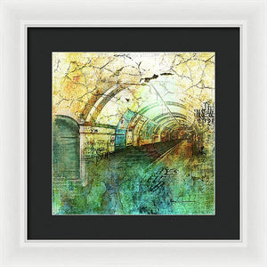 Crackly Underground London - Framed Print
