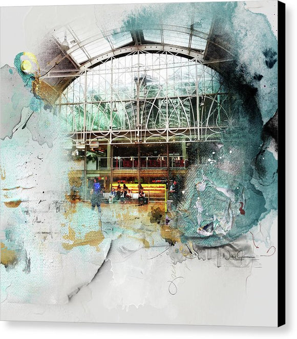 Delicate Balance - Paddington Station - Canvas Print