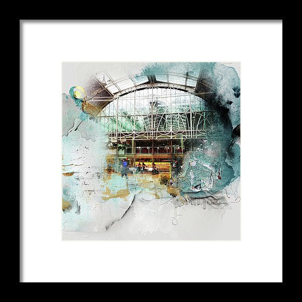 Delicate Balance - Paddington Station - Framed Print