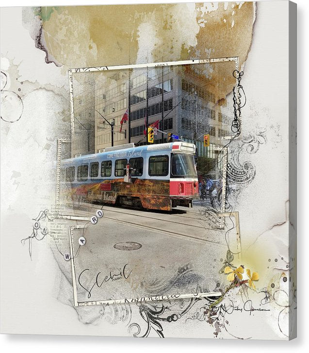 Downtown Street Car on King Street, Canvas print by Nicky Jameson