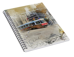 Downtown On King Street - Spiral Notebook