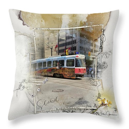 Downtown On King Street - Throw Pillow