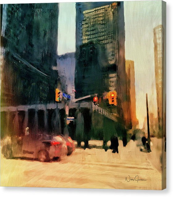 Downtown Toronto King And Bay - Canvas Print
