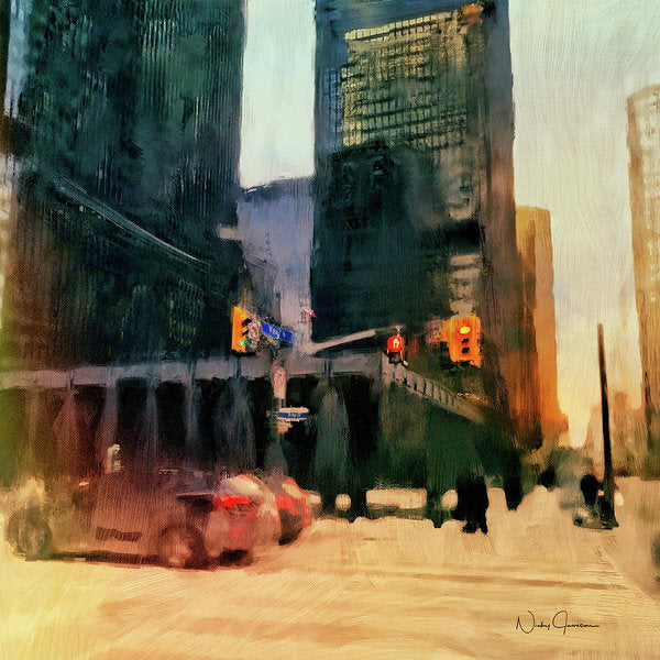 Downtown Toronto King And Bay - Art Print