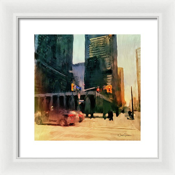Downtown Toronto King And Bay - Framed Print