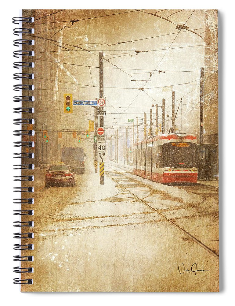 Downtown Toronto - Looks Like Snow - Spiral Notebook