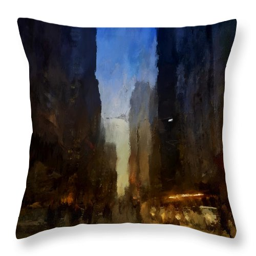 Downtown Toronto York St - Throw Pillow