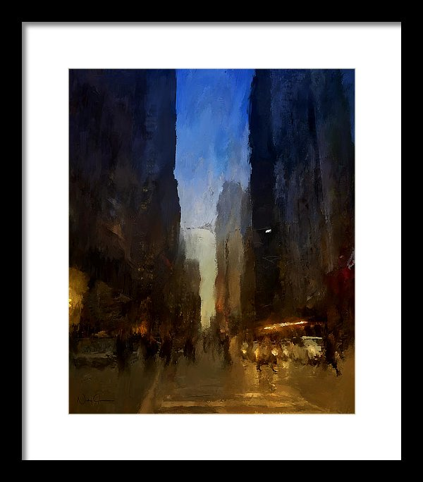 Downtown Toronto York St - Framed Print