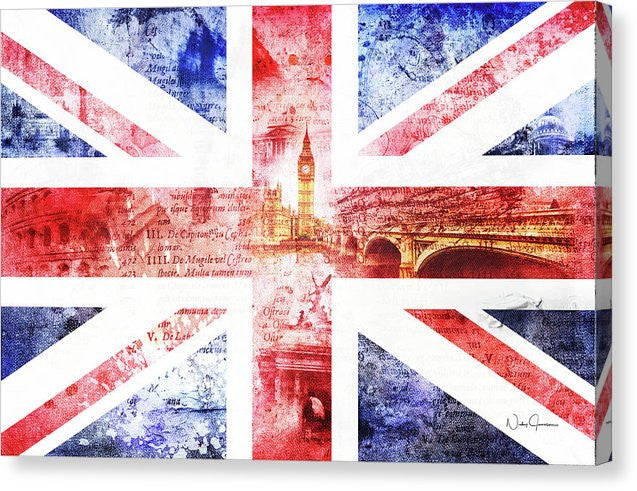 UK art, Union Jack Art, UK flag art, Great Britain art print by Nicky Jameson