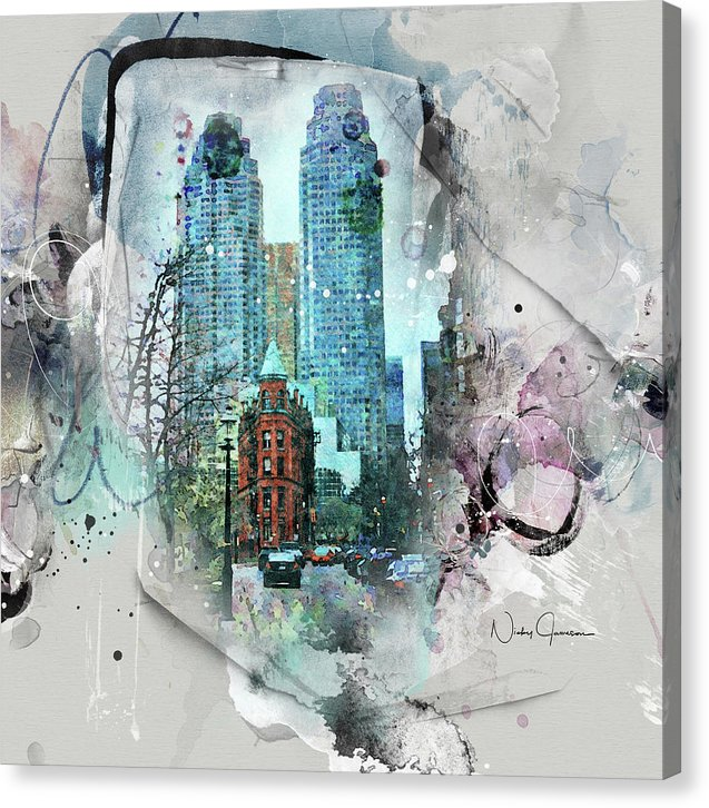 Flatiron Church And Wellington - Canvas Print