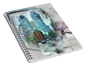 Flatiron Church And Wellington - Spiral Notebook