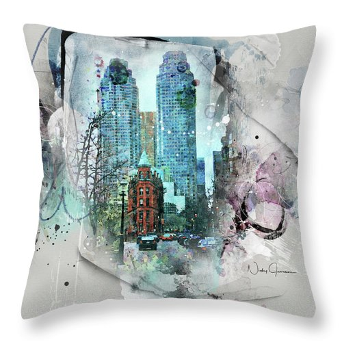 Flatiron Church And Wellington - Throw Pillow