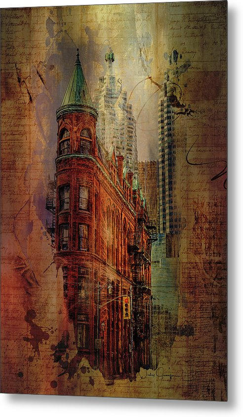 Toronto Flatiron Lights - Metal Print