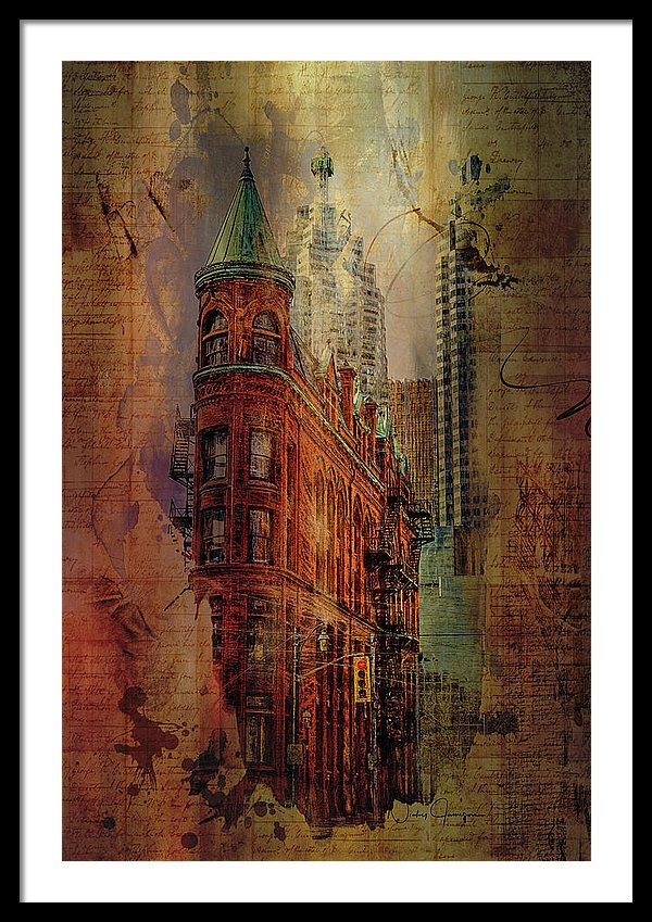 Toronto Flatiron Lights - Framed Print