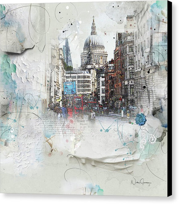 Fleet Street - St Paul's - Canvas Print