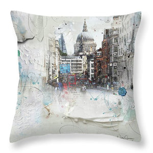 Fleet Street - St Paul's - Throw Pillow