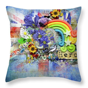 Flowers of Hope - Throw Pillow