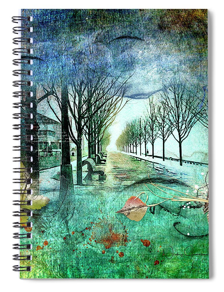 Foggy Morning on Corus  Quay - Spiral Notebook