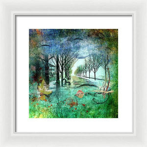 Foggy Morning on Corus  Quay - Framed Print