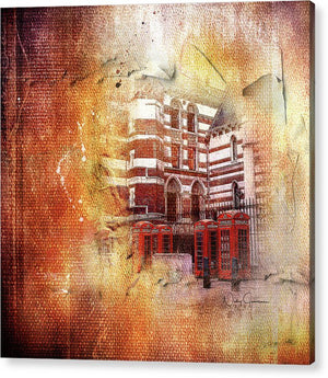 Four, End Four -  Iconic Red Telephone Boxes Acrylic Print