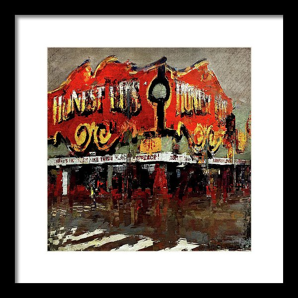 Gone Place Honest Ed's - Framed Print