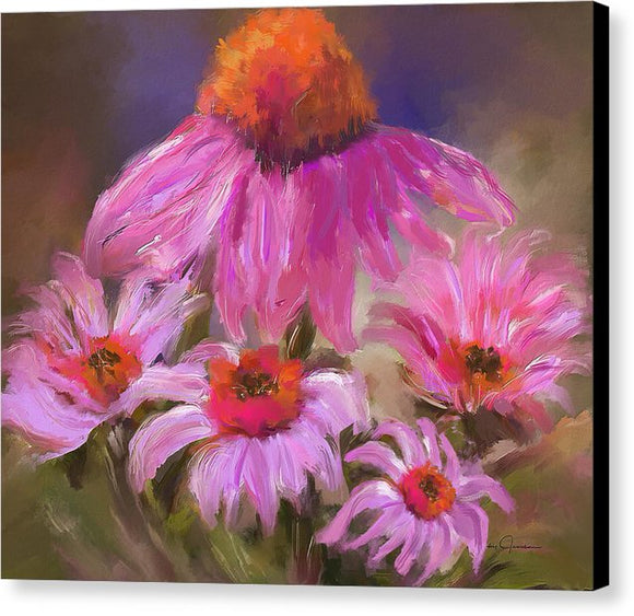 Happy Flowers - Canvas Print