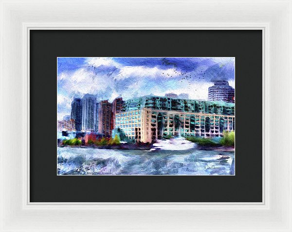 Harbourside - Framed Print