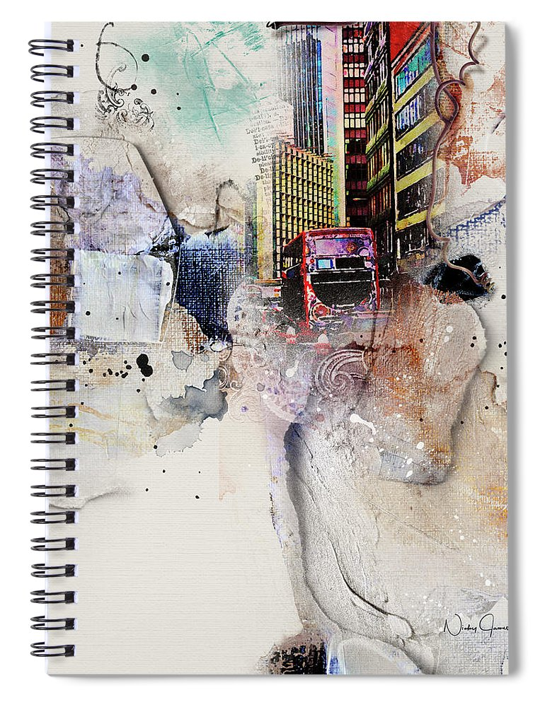 Here Comes the Bus - Spiral Notebook