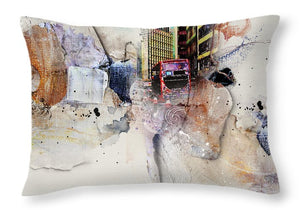 Here Comes the Bus - Throw Pillow