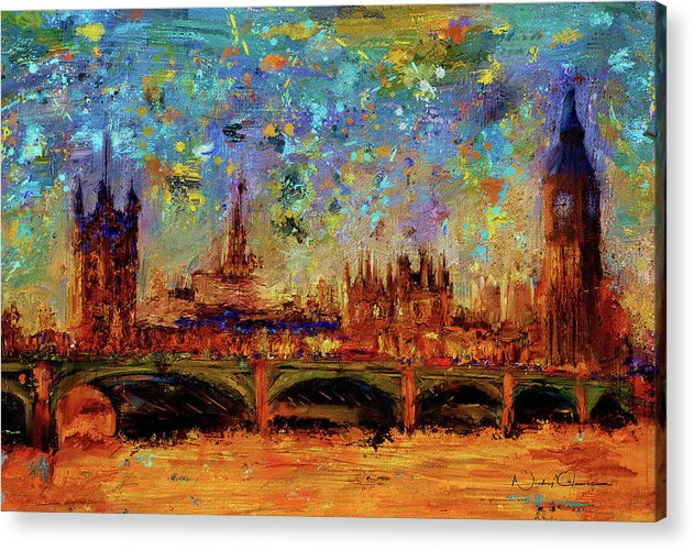 Houses of Parliament and Westminster Bridge - Acrylic Print