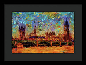 Houses of Parliament and Westminster Bridge - Framed Print