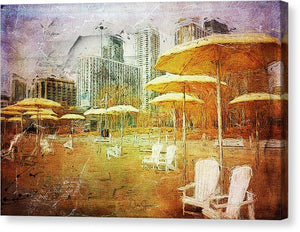 Hto Beach, Toronto Waiting for Summer - Canvas Print