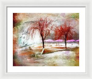 Ice And Fog On Sugar Beach - Framed Print