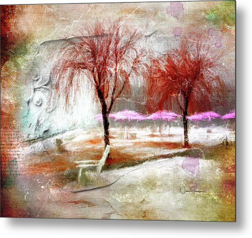 Ice And Fog On Sugar Beach - Metal Print